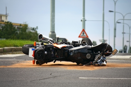 6660590 - motorcycle accident on the city road